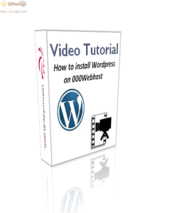 Video tutorial: how to install WordPress on 000Webhost